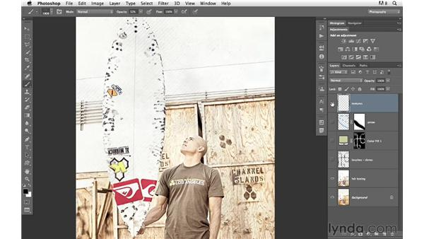 Experimenting with custom brushes : Photoshop for Photographers: Creative Effects