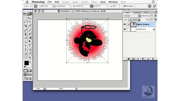 placing Illustrator: Learning Photoshop 7