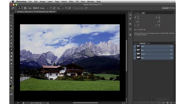 Making selections using the Color Range command: Digital Matte Painting: Changing a Scene From Summer to Winter
