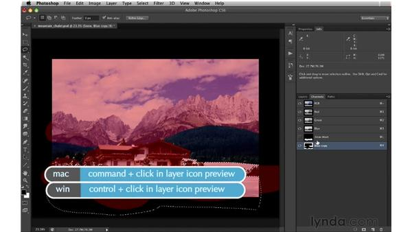 Extracting the foothills: Digital Matte Painting: Changing a Scene From Summer to Winter