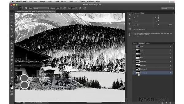 Painting through a high-contrast matte : Digital Matte Painting: Changing a Scene From Summer to Winter