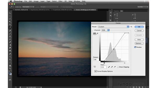 Adding a blue Multiply layer: Digital Matte Painting: Changing a Scene From Summer to Winter