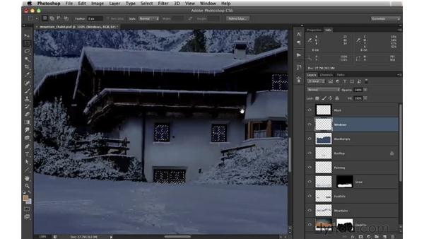 Lighting windows: Digital Matte Painting: Changing a Scene From Summer to Winter