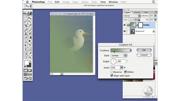 gradient layer: Learning Photoshop 7