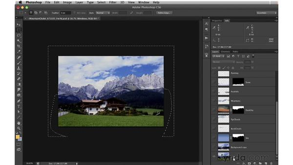 Preparing the file for After Effects: Digital Matte Painting: Changing a Scene From Summer to Winter