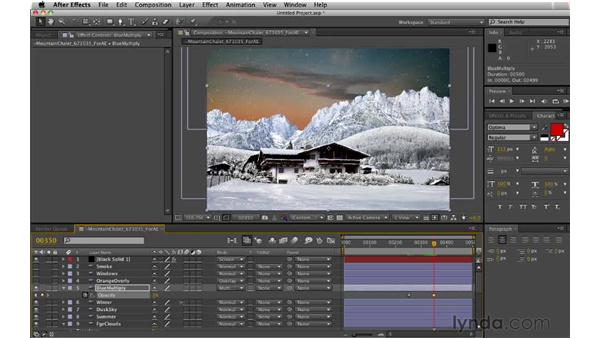 Adding snow using CC Snow: Digital Matte Painting: Changing a Scene From Summer to Winter