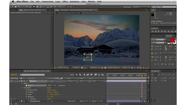 Lighting the windows sequentially: Digital Matte Painting: Changing a Scene From Summer to Winter