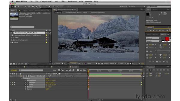 Reformatting and rendering the scene: Digital Matte Painting: Changing a Scene From Summer to Winter