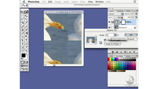 pattern layer: Learning Photoshop 7