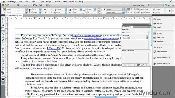 044 Fixing unwanted hyperlinks in an imported Word file: InDesign Secrets