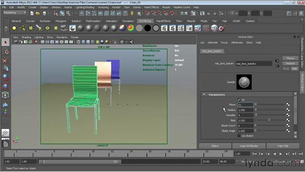 Creating bokeh in mental ray using lens shaders: Maya Essentials 6: Lights and Rendering