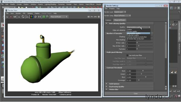Creating motion blur in the Maya Software renderer: Maya Essentials 6: Lights and Rendering