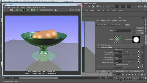 Creating reflections and refractions: Maya Essentials 6: Lights and Rendering