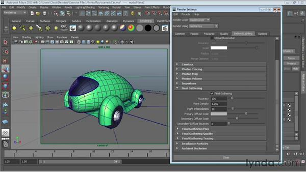 Turning objects into light sources: Maya Essentials 6: Lights and Rendering