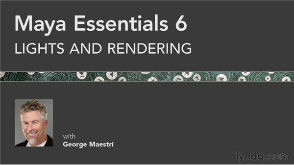 Goodbye: Maya Essentials 6: Lights and Rendering