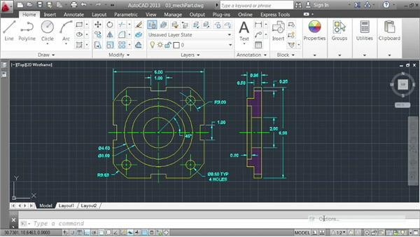Choosing line weights: AutoCAD 2013 Essentials: 06 Sharing Drawings with Others