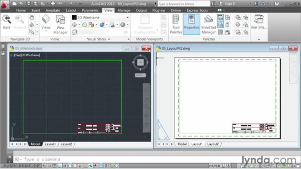 Creating a layout, part two: inserting a title block: AutoCAD 2013 Essentials: 06 Sharing Drawings with Others