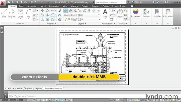 Reusing layouts: AutoCAD 2013 Essentials: 06 Sharing Drawings with Others