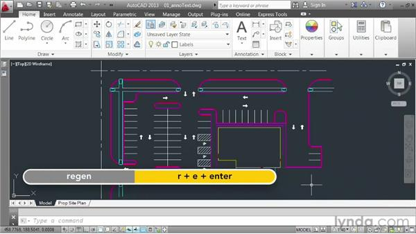 Using the Annotative property to size text: AutoCAD 2013 Essentials: 06 Sharing Drawings with Others