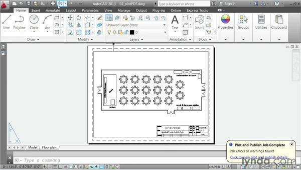 Plotting to PDF: AutoCAD 2013 Essentials: 06 Sharing Drawings with Others