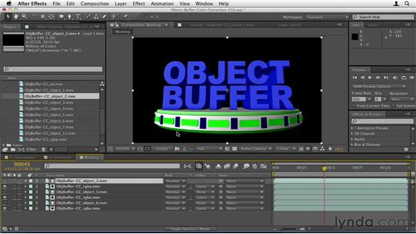 036 Correcting color in After Effects with C4D and object buffers: Design in Motion