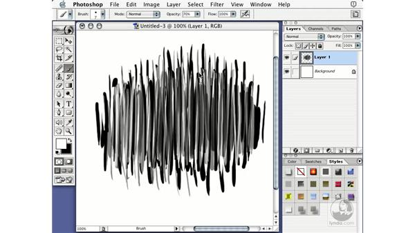 creating the brush: Learning Photoshop 7