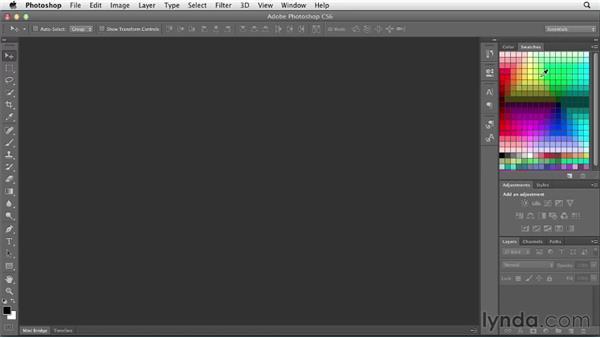 Setting up Photoshop for web work: Photoshop CS6 for Web Design (2012)