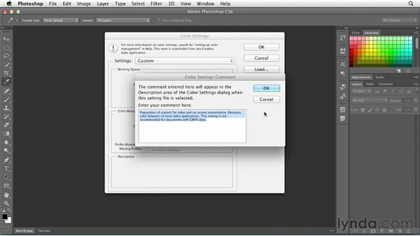 Adjusting color settings: Photoshop CS6 for Web Design (2012)
