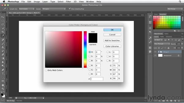 Understanding web color: Photoshop CS6 for Web Design (2012)
