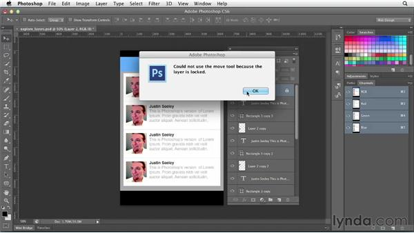 Exploring the Layers panel: Photoshop CS6 for Web Design (2012)