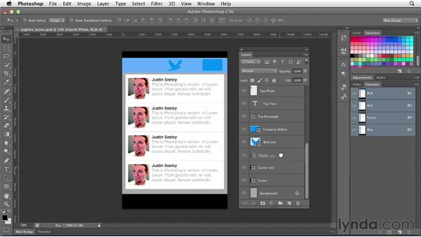 Renaming and grouping layers: Photoshop CS6 for Web Design (2012)