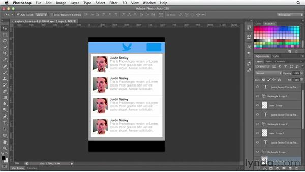 Using automatic layer selection: Photoshop CS6 for Web Design (2012)
