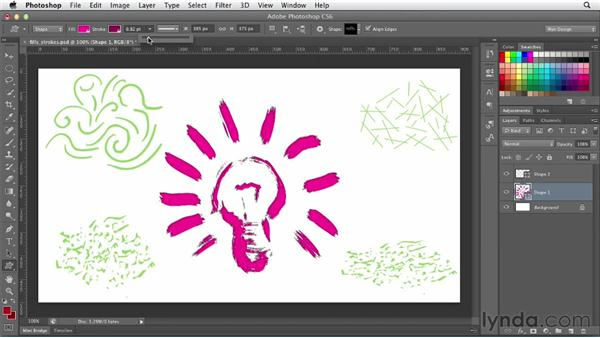 Working with fills and strokes: Photoshop CS6 for Web Design (2012)