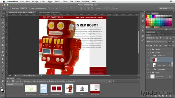 Importing images: Photoshop CS6 for Web Design (2012)