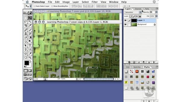 finish line: Learning Photoshop 7