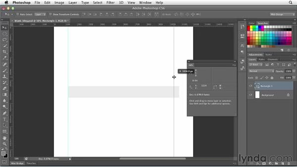 Using guides and rulers: Photoshop CS6 for Web Design (2012)