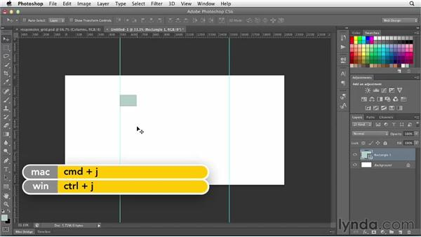 Using a grid system: Photoshop CS6 for Web Design (2012)