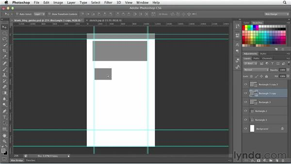 Developing a layout with shape layers: Photoshop CS6 for Web Design (2012)
