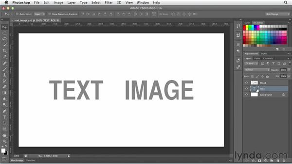 Using text as text vs. using text as an image: Photoshop CS6 for Web Design (2012)