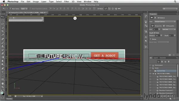 Creating editable 3D text: Photoshop CS6 for Web Design (2012)