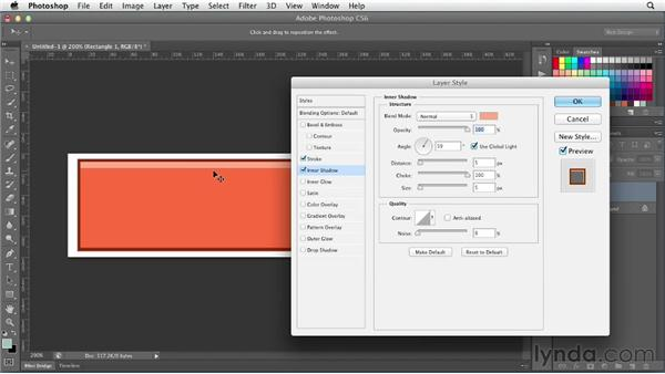 Creating better bevels: Photoshop CS6 for Web Design (2012)