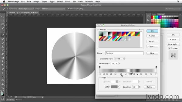 Simulating metallic textures: Photoshop CS6 for Web Design (2012)