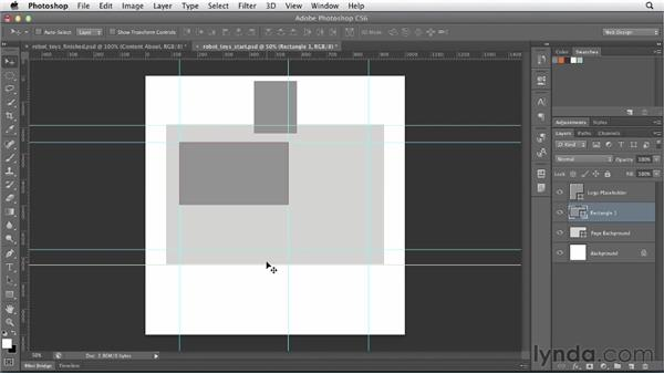 Starting with a wireframe: Photoshop CS6 for Web Design (2012)