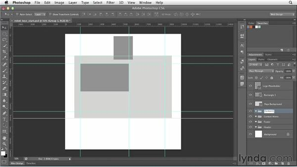 Organizing page structure: Photoshop CS6 for Web Design (2012)