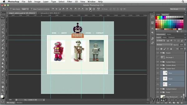 Working with photographs: Photoshop CS6 for Web Design (2012)