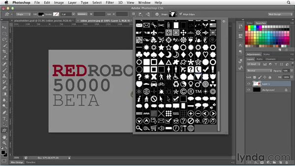 Creating media placeholders: Photoshop CS6 for Web Design (2012)