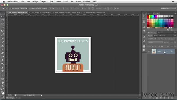 Understanding web file formats: Photoshop CS6 for Web Design (2012)
