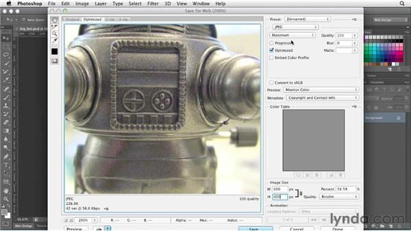 Optimizing photographs: Photoshop CS6 for Web Design (2012)