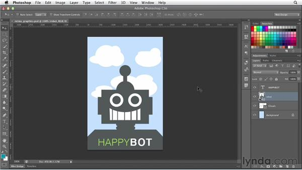 Saving Retina display graphics: Photoshop CS6 for Web Design (2012)