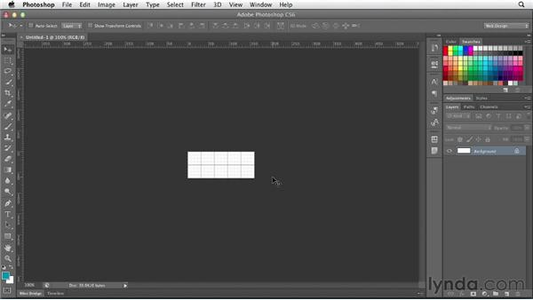 Creating a sprite grid: Photoshop CS6 for Web Design (2012)